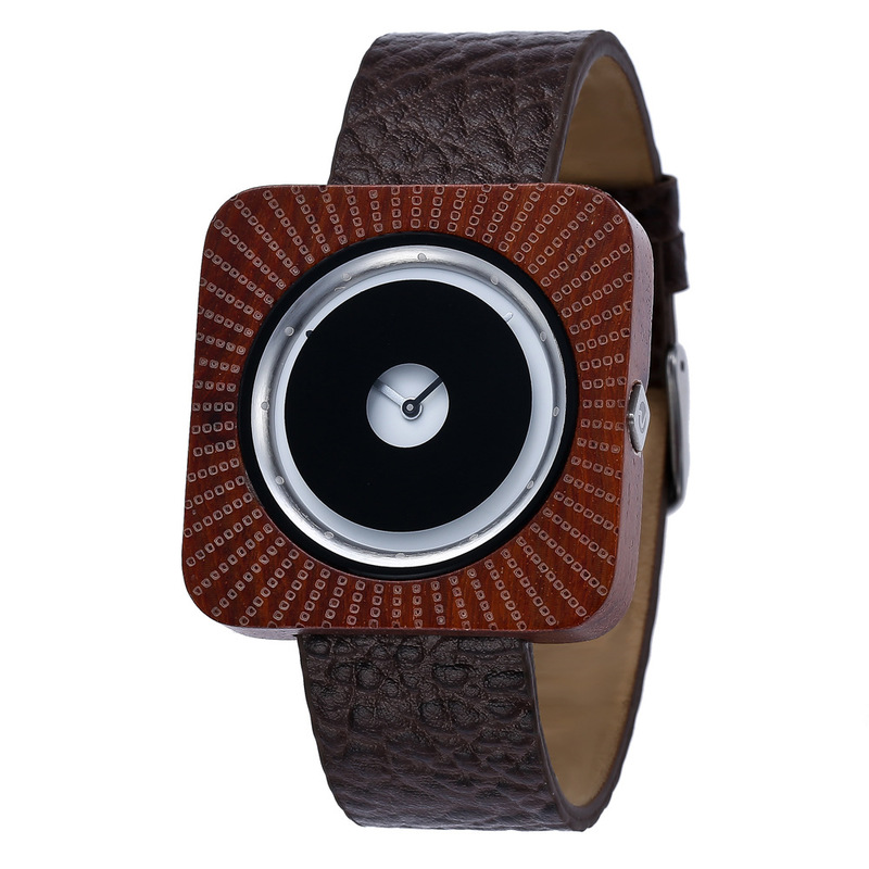 2020 New Amazon Hot Style Wooden Table Cross-border Rosewood Watch For Leather Quartz A Undertakes International