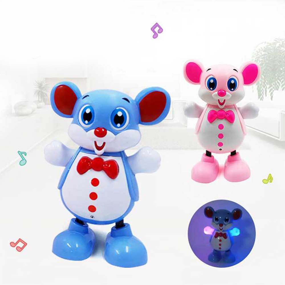 Electric Smart Dancing Robot Toy Children Kids Educational Music Light Mouse Toys Doll For Chirstmas 2020 Rat New Year Gift