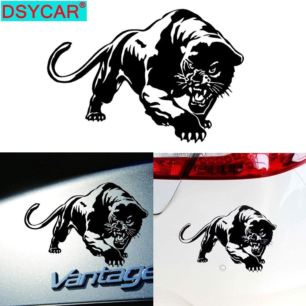 DSYCAR 2 Teile/los Auto Aufkleber Cheetah Leopard Lustige Auto Aufkleber Auto Fenster Dekorative Aufkleber Aufkleber für Auto Dekoration
