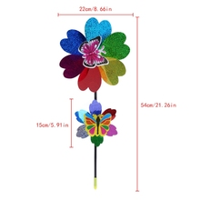 New Colorful Sequins Windmill Wind Spinner Home Garden Yard Decoration Kids Toy