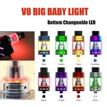 Vmiss Single TFV8 Big Baby Light Edition Tank 5ml Top Filling Airflow Control Cloud Beast Vape Atomizer Stick V8 Baby Coils