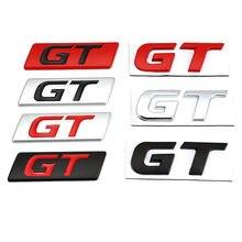 Gt etiqueta do carro emblema emblema decalques para peugeot hyundai gt bmw x6 x5 kia forte optima picanto stinger renault ford focus mondeo