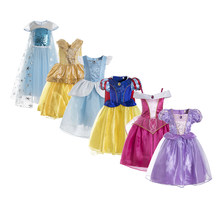 Delux Elsa dress princess costume Halloween outfit anna snowflake queen cosplay blue girl gown christmas birthday gift