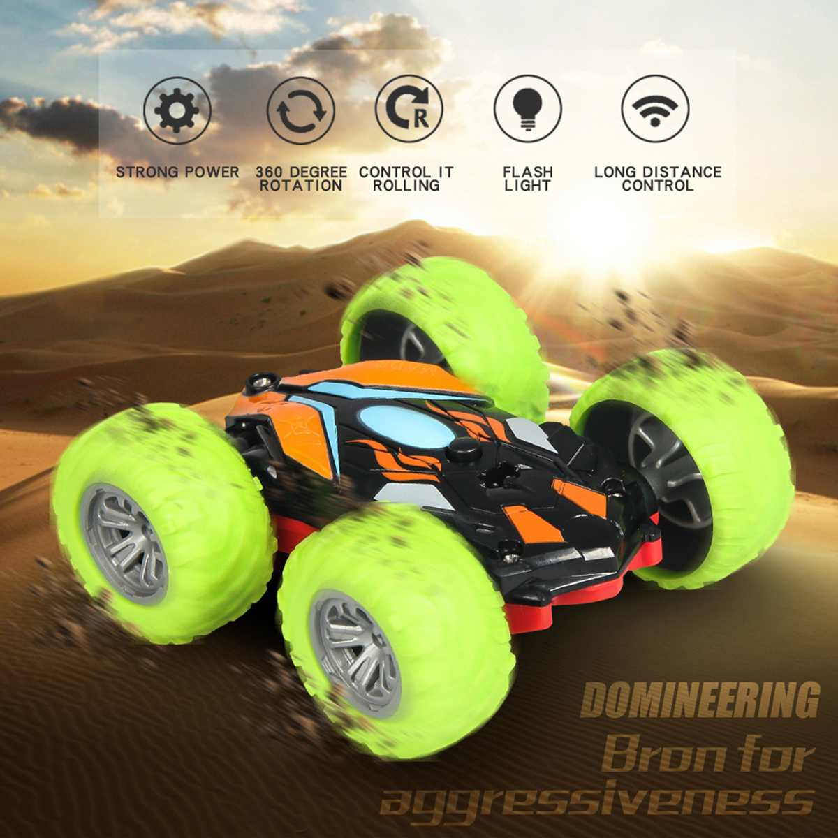 Double Sided 3D Flip Remote Control Car Robot RC Car Toy Drift-Buggy Crawler Battery Operated Stunt Machine Radio Controlled Car