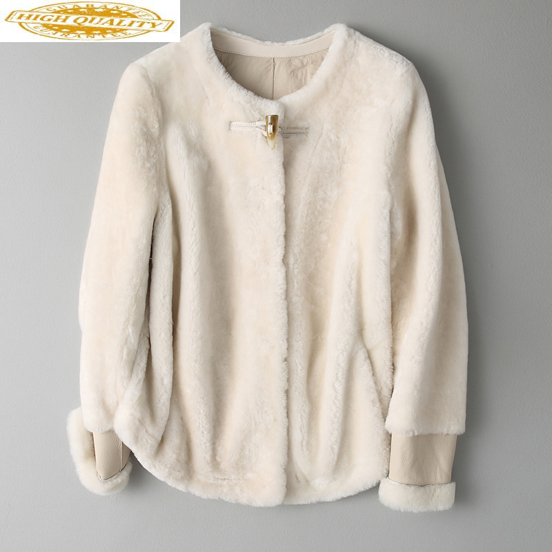 Real Fur Coat Female Short Merino Sheep Fur Coats Genuine Sheepskin 2020 Korean Style Winter Jacket Women Outwear 189C79