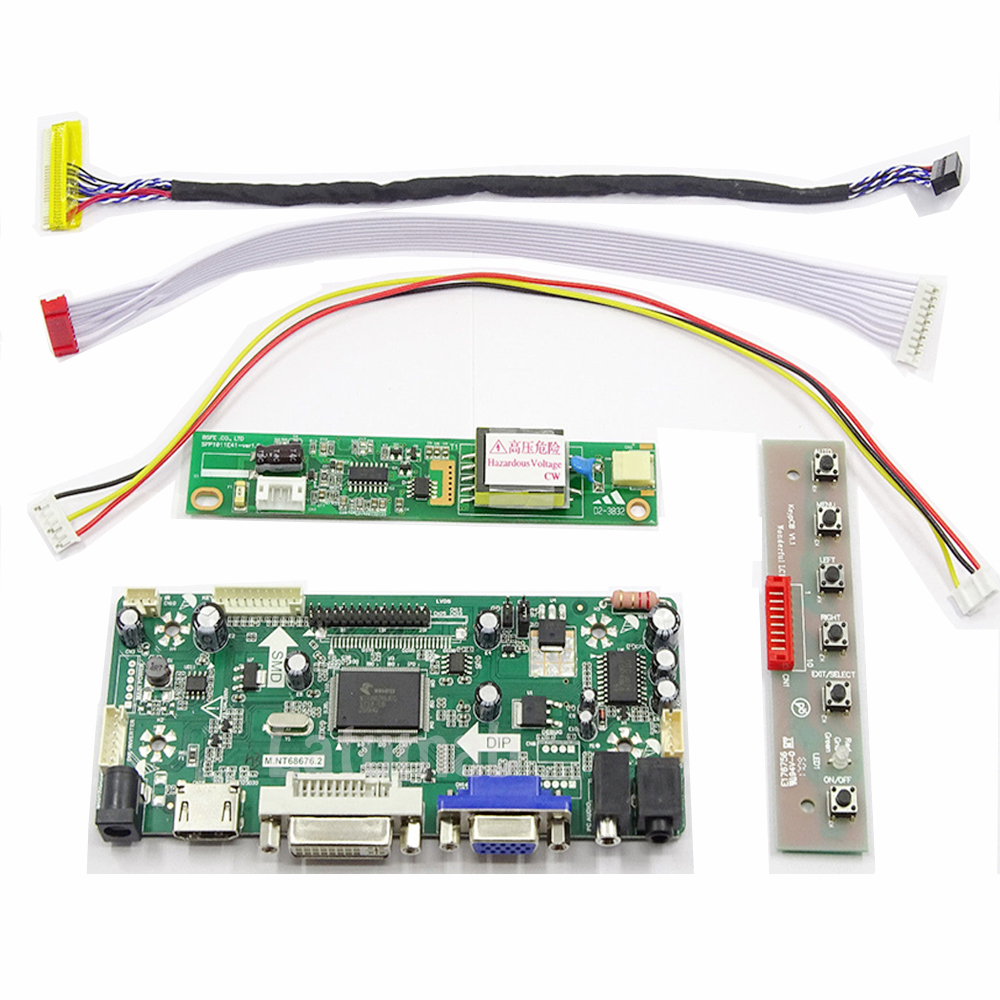 Latumab Kit For LP141WX3 TL N2 ( HDMI+DVI+VGA ) LCD Screen Controller Board NT68676