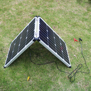 Image 4 - Dokio 100W 접이식 태양 전지 패널 12V 18V 태양 전지 셀/모듈/시스템 충전기 컨트롤러 태양 전지 패널 키트 ru에서 우주선