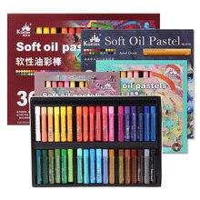 Artist Pastel-Stick Crayons Macaron Soft-Intense Kuelox-Oil Morandi-Colors Pastels-24/36-Colors