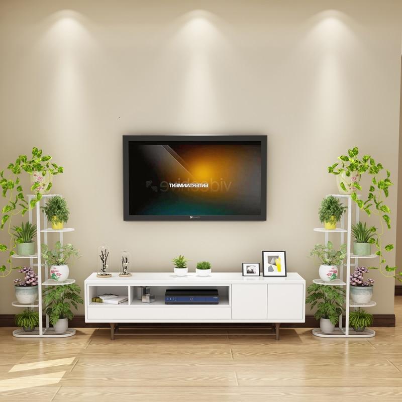 Multi-storey Indoor Household Balcony Iron Art Of Shelf A Living Room Province Space Flowerpot Landing Type Green Luo