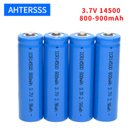 3,7 v 14500 akku 3,7 v lithium-aa batterie 2A 800-900mAh li-ion batterien