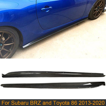 Car Side Skirts Body kits For Subaru BRZ Toyota FT86 GT86 2013-2020 Carbon Fiber BodyKits Side Skirts Apron Lip Trim Cover image