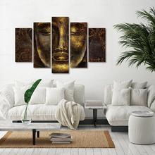 Прямая поставка 5 шт плакаты эстетические принты буддизм холст