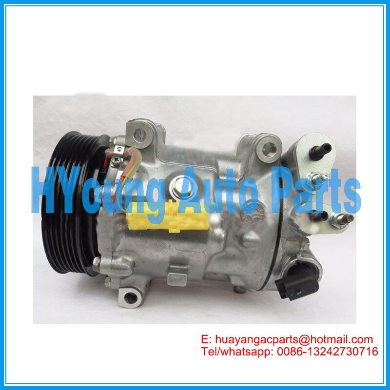 SD7C16 1300 auto compressore d'aria condizionata per Citroen C5 Peugeot 607 407 6453 PM 6453PN 9648138680 765844