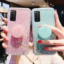 Glitter Bling Case For Oppo Realme X50 5 Reno Z 2 2Z 3 Pro Stand Holder OPPO A9 A5 2020 A91 A31 A8 A79 A83 R15 R17 A1k