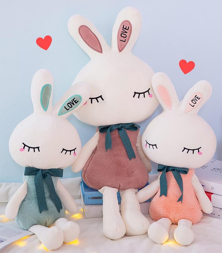 Cute Cartoon Bunny Soft Plush Toys Rabbit Stuffed Animals Doll Baby Kids Gift LA
