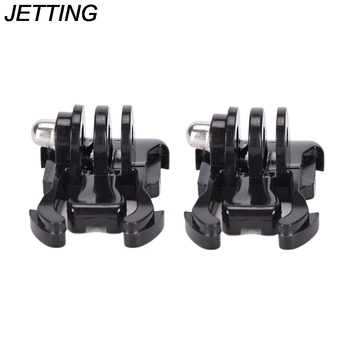 2pcs/lot Helmet Accessories Mount Basic Adapter Buckle For Go Pro Hero 3+/3/4 SJ4000/5000/6000 HOT Sale image