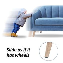 Magic Self Adhesive Furniture Glides Anti Slip Table Chair Leg Shock Pad Protector Slider Round Rubber Felt Pads Feet for Legs