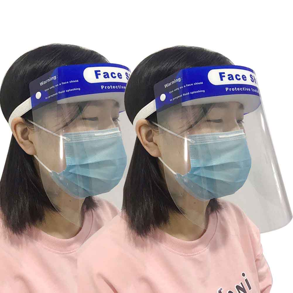 2pcs Full Protective Double Sided Face Shield Anti Fog Tool Outdoor Lightweight Anti-spitting Anti-oil Protection Face Shield