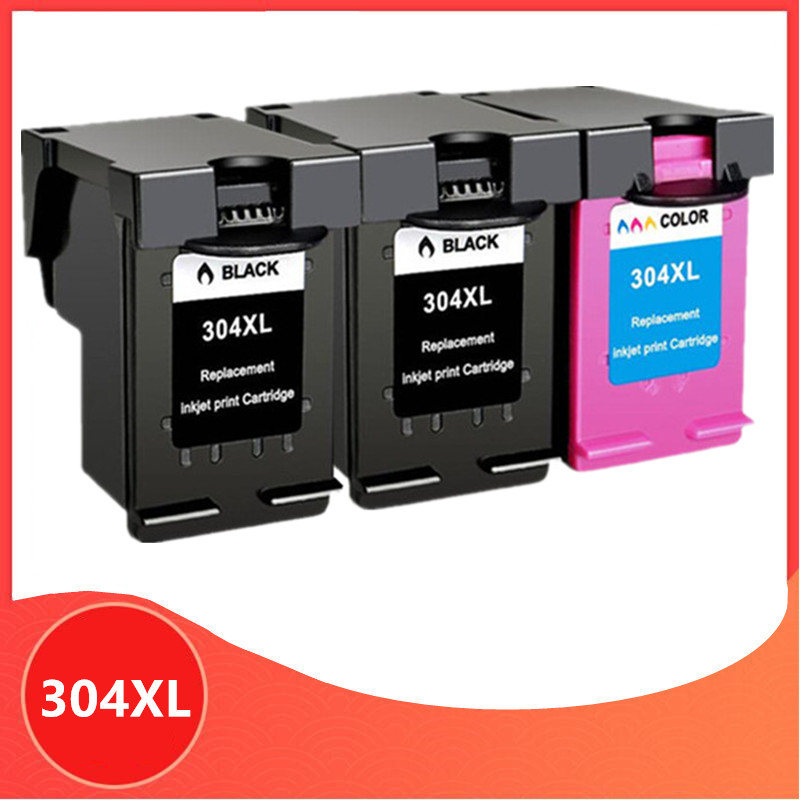 3PK <font><b>Ink</b></font> <font><b>Cartridge</b></font> 304XL new version for hp304 for <font><b>hp</b></font> 304 xl deskjet envy <font><b>2620</b></font> 2630 2632 5030 5020 5032 3720 3730 5010 printer image