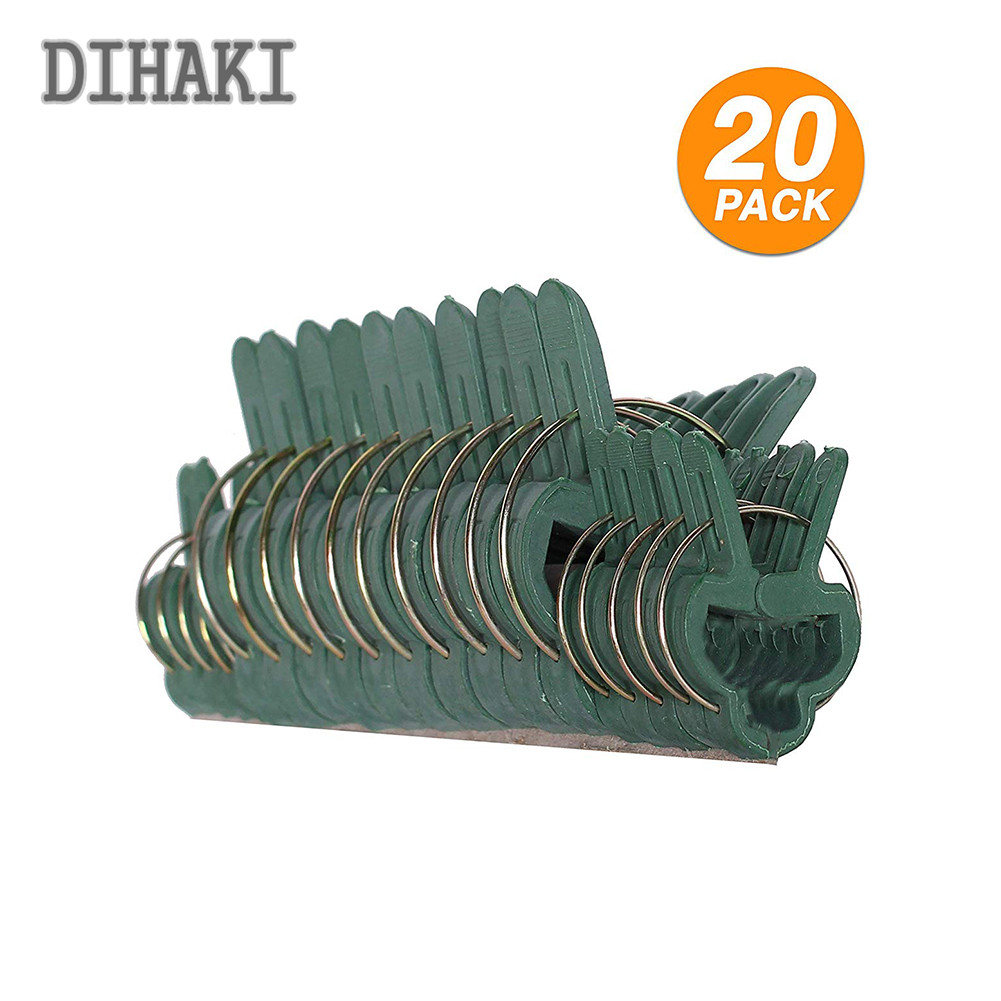 20PCS/set Garden Plant Clips Plastic Fixed Figure Plant Pin Clips Ties Vegetable Growing Supports Plant Clip