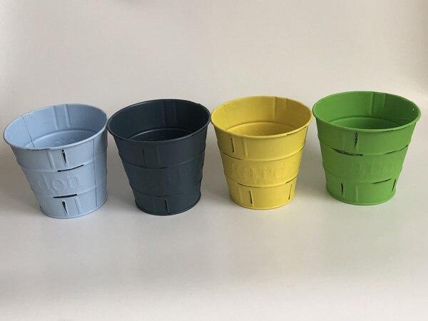 10 Pcs/Lot D11XH10CM Vase en métal petits Pots Antique décor à la maison fleur baignoire-in Pots de fleurs et jardinières from Maison & Animalerie    1