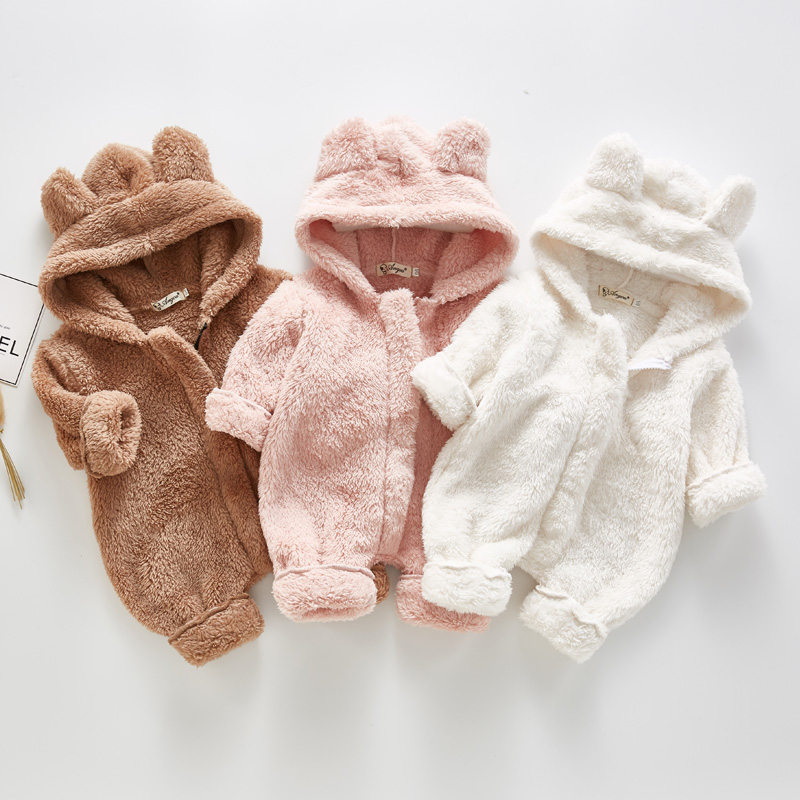 Infant Jackets Coat Fleece Baby-Girl Cute New Warm for Clothing Outfit Costume Jumpsuit title=