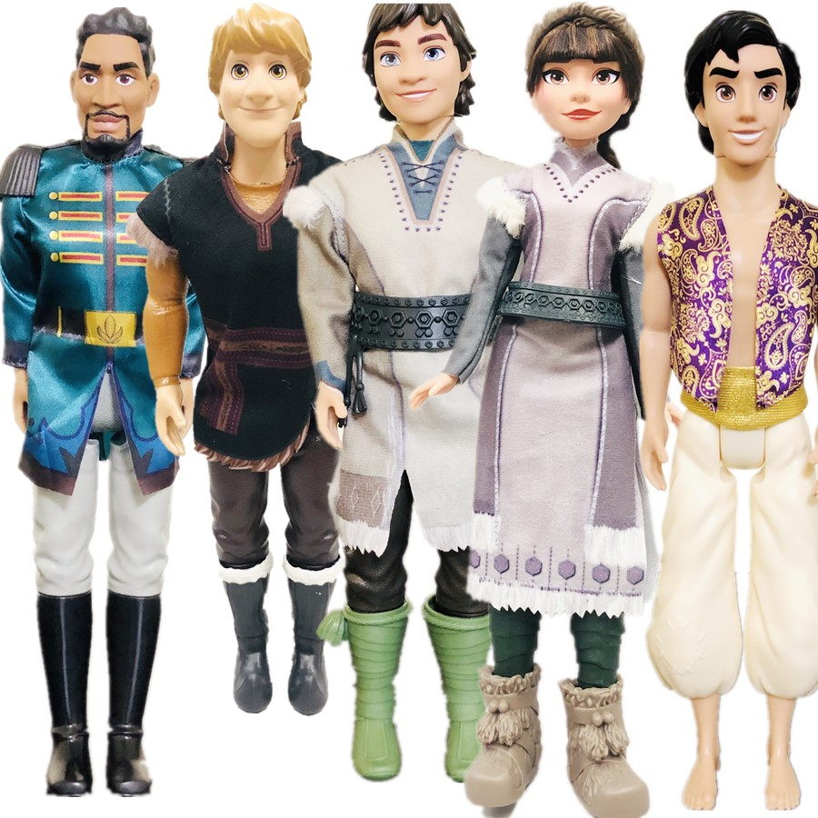 New 28cm Beautiful Animation Prince Kristoff  Hans Girl Movie Doll Quality Princess Doll Girl Gift