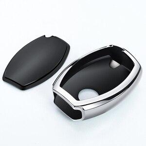Image 5 - Hohe Qualität Chrom TPU Auto Schlüssel Abdeckung Schlüssel Tasche fit für Mercedes Benz A C E R M klasse CLA GLA Schlüssel Shell Protector Schlüssel Fall Ketten