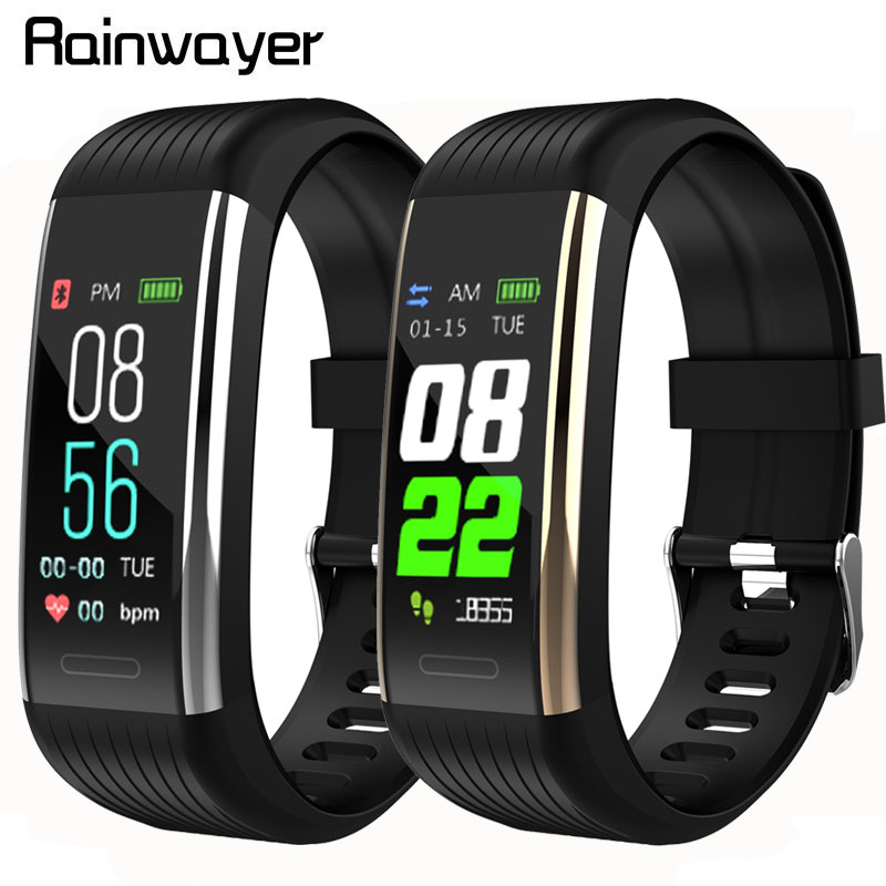 R1 Bluetooth Smart Wristband Band Pedometer Heart Rate Monitor Blood Pressure Fitness Tracker Waterproof Smartband Bracelet