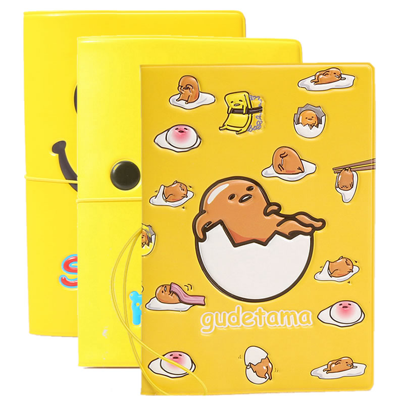 Cartoon Lazy Egg Passport Cover Wallet Bag Travel Accessories Women Men PU Leather ID Address Holder Portable Boarding Card Case