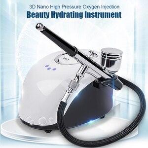 Vaporizador Facial portátil, máquina pulverizadora de SPA para cara, medidor de oxígeno y agua a alta presión, dispositivo de belleza nebulizador, herramienta de cuidado
