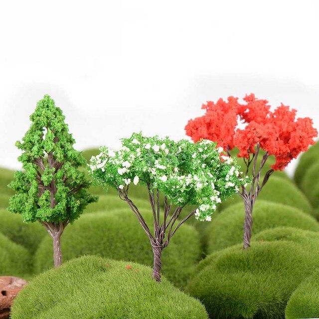 Plastic Mini Simulation Trees Kawaii Willow Sakura Mini Home Decoration Garden Microlandscape Miniatures Figurines 3