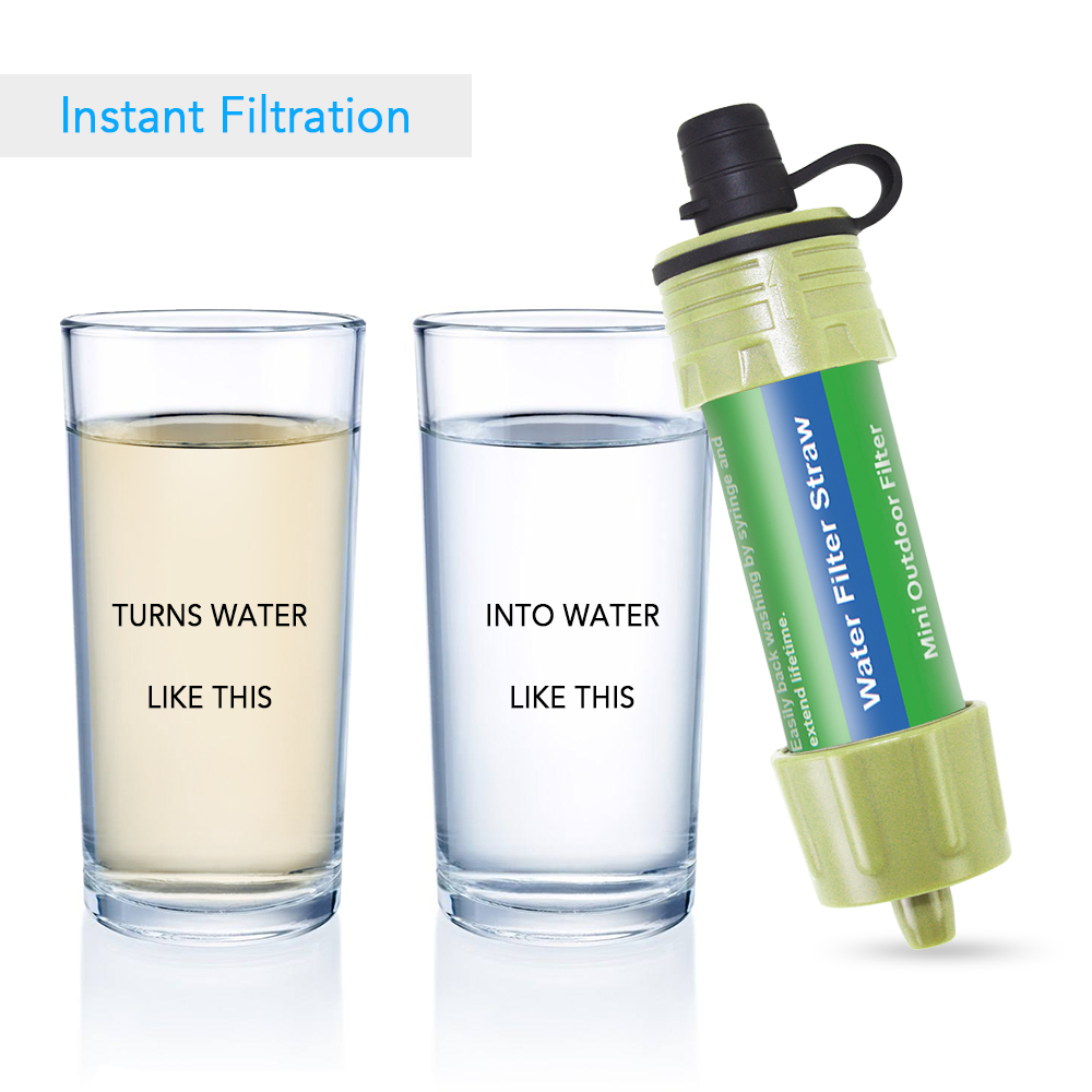 Outdoor Water Purifier for Emergency Preparedness Water Filter Straw Water Filtration System  Camping Traveling Backpacking