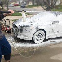 Professionelle Einstellbare Messing Schnee Foam Lance Schaum Düse Schaum Kanone Hochdruck Scheiben-in Autowäscher aus Kraftfahrzeuge und Motorräder bei