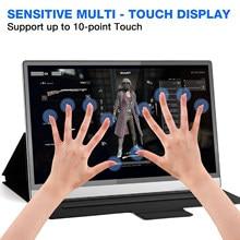 15.6 polegada lcd monitores para computador portátil monitor portátil touchscreen 3840x2160 uhd jogos usb com tipo c para ps4 xbox portátil
