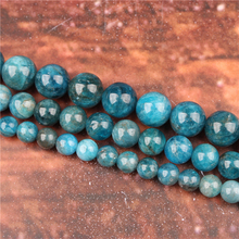 Fashion jewelry 4/6/8/10 / 12mm apatite, suitable for making jewelry DIY bracelet necklace