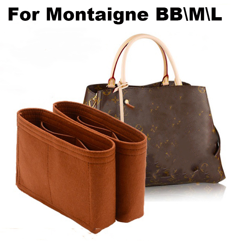 For Montaigne BB/Medium/Large All Handmade 3MM Felt Insert Bags Organizer Makeup Handbag Organize Portable Cosmetic Base Shape
