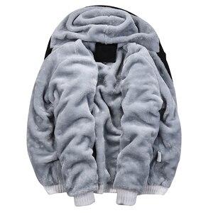 Image 4 - טלאי גברים של נים אימונית סט חורף צמר ספורט סווטשירט חליפת מותג בגדי גברים מעיל + מכנסיים 2PCS לעבות סטים