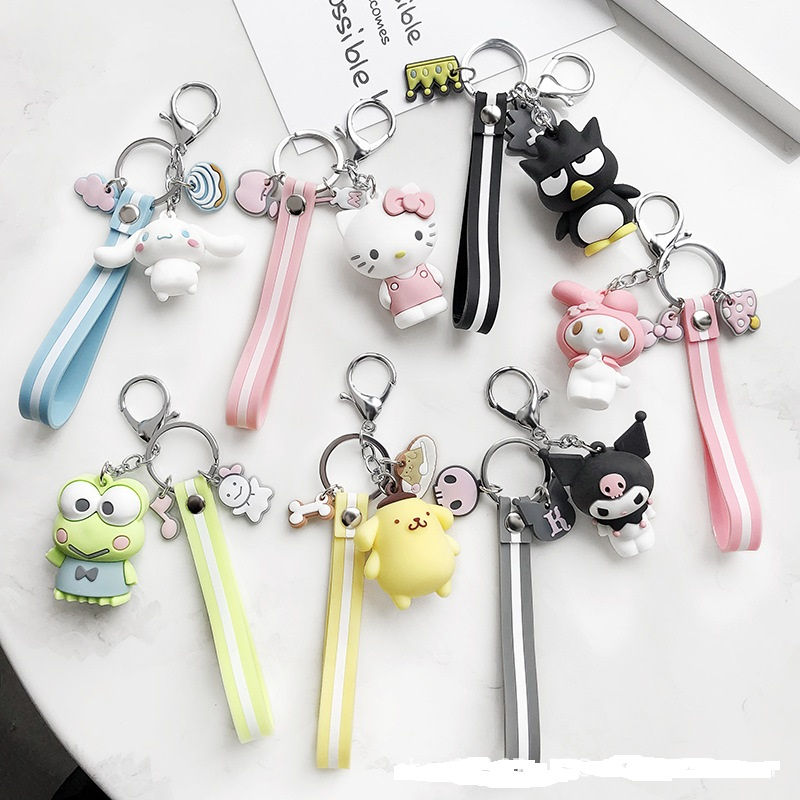 Hello Kitty red key chain ring pendant birthday gift A keychain strap new