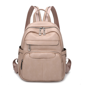 Leather Backpack Women Soft Leather Travel Backpack Small School Bags for Teenager Girls Mochila Feminina Back Pack