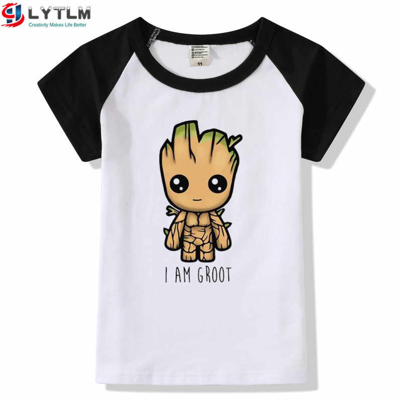 LYTLM 14 Year XXX Groot Boys T Shirt Camisetas Avengers Girls Tshirt 12  Years Boys Tshirts Toddler Girl Tops Raglans Kid Clothes