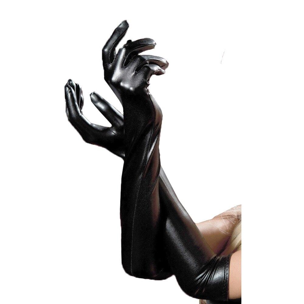 2019 News Winter Warm Leather Gloves Black Touch Screen Gloves For Women Ladies Leather Gloves Long Gloves Warm Sexy Temptation