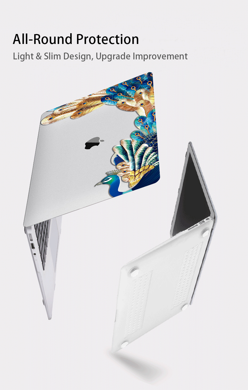 Crystal Feather Hard Colored Case for MacBook 20