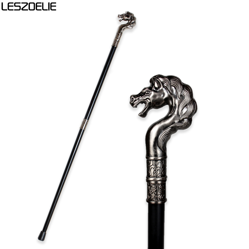 Horse Head Luxury Walking Stick Cane For Man 2019 Party Walking Sticks Men Elegant Fashion Hand Crutches Stylish Stick Canes