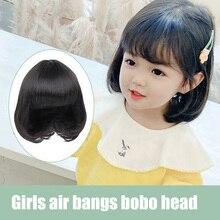 Детский головной убор LANLAN, милый головной убор принцессы Бобо, стильный головной убор для девочек, имитация коротких волос на всю голову