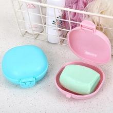 Home bathroom gadgets with lid waterproof soap box travel soap box toilet creative drain