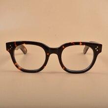 Novo johnny depp óculos óculos de computador óculos de acetato masculino quadro da marca do vintage Z321 2