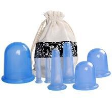 Pçs/set 7 Silicone Anti Celulite Copo Manual De Rolo de Vácuo ventosas Massagem Alívio Da Dor Corporal Ventosas Terapia Cupping Kit