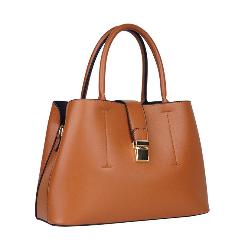 Miyaco Vintage Leather Handbag Brown Women Bag Messenger Bags Elegant Ladies Top Handle Bag Luxury handbags