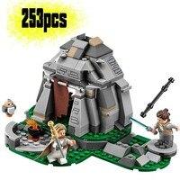 75200 série estrela último filme jedi ahch-to ilha treinamento blocos de construção tijolos brinquedos para crianças 10903 lepining